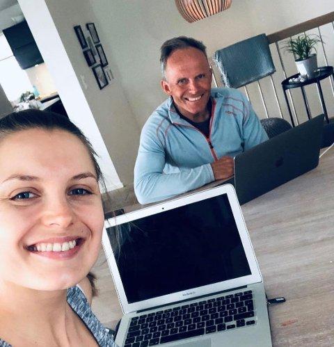 JOBBET SAMMEN: Under arbeidet med «Pappas hemmelighet» har Vilde Bratland Hansen jobbet tett med faren Odd Werner Hansen, som flere ganger vurderte å trekke seg fra prosjektet.