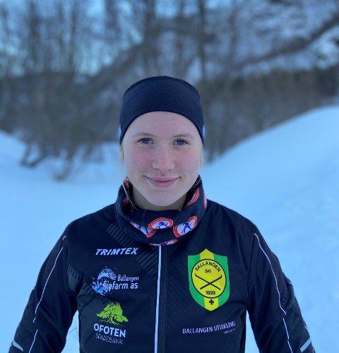 Eline Hansen(19) fra Ballangen satser videre på en skikarriere.