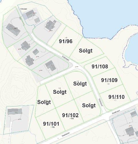POPULÆRT: Fem av de 11 tomtene i Hagvågen er nå solgt.