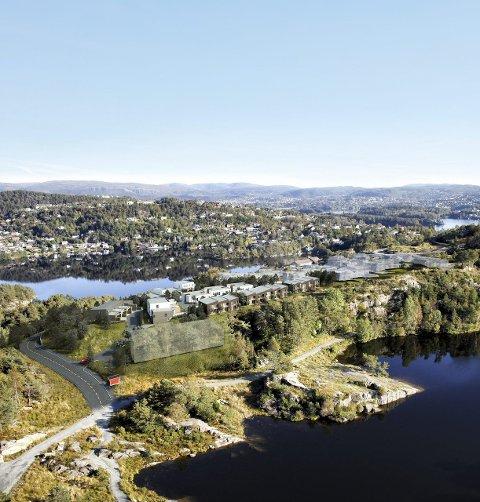 POPULÆRT: Vestbos prosjekt Strømme gård i Fyllingsdalen er blant prosjektene Vestbo har stor tro på i år. Det skal bygges rundt 300 boliger her på sikt.ILLUSTRASJON: VESTBO