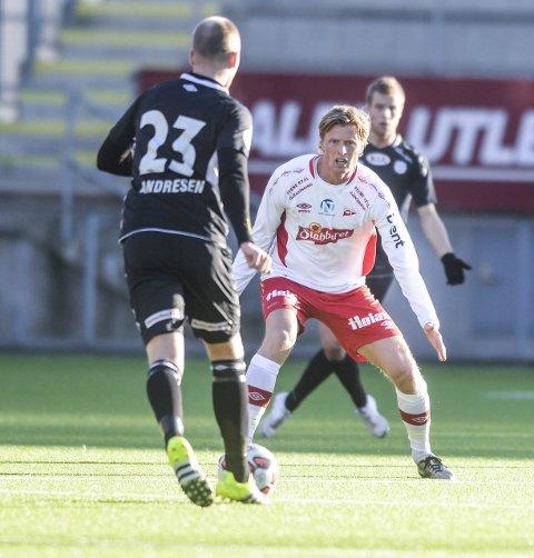 UAVGJORT SIST: Andreas Aalbu og FFK spilte 1–1 i vinterens treningskamp mot Strømmen. Foto: Kent-Inge Olsen
