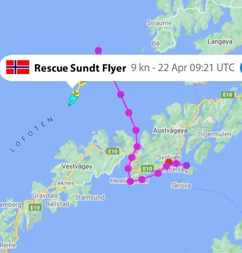 """SLEP: Det ble en lang tur for mannskapet på """"Sundt Flyer"""""""