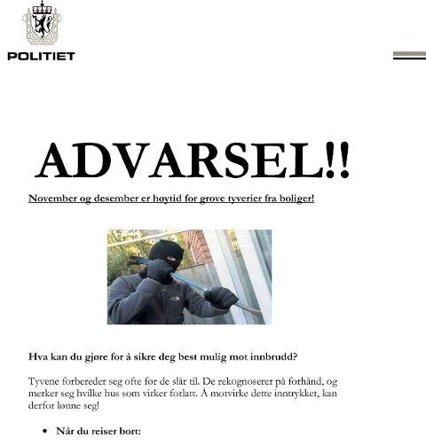 RÅD: I fjor delte Sarpsborg-politiet ut flyverblader til flere tusen husstander.