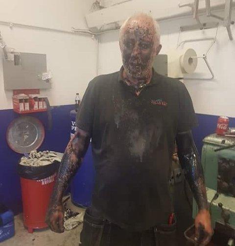 Rammet av trykket: Trykket i undervannshuset sørget for at oljen fikk fart på seg.