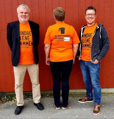 TV-aksjonskomiteen: Fra venstre Bjørn Salvesen, Berit Sevatdal og Harald Hauge.
