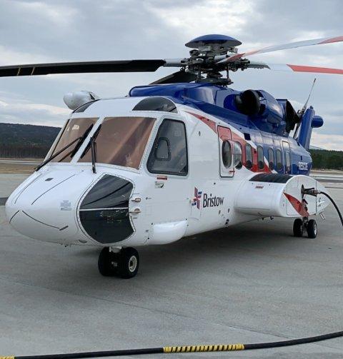 Sikorsky 92 helikopter nede på Røros i dag