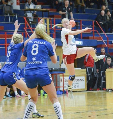 Vant: Andrine Nordby Løvberg scoret seks mål da Fram slo Førde i 2. divisjon søndag.
