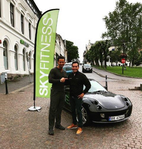 SAMARBEID: Eier Jorge Brito (til høyre) i Sky Fitness har inngått et samarbeid med Hollywoodtrener Cornelis Elander.
