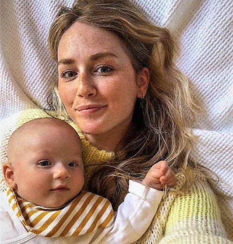 Mamma: Ingvild ble mor for første gang i januar, og skulle så gjerne besøkt mor og mormor Anne Marit på 70-årsdagen, men slik ble det ikke.