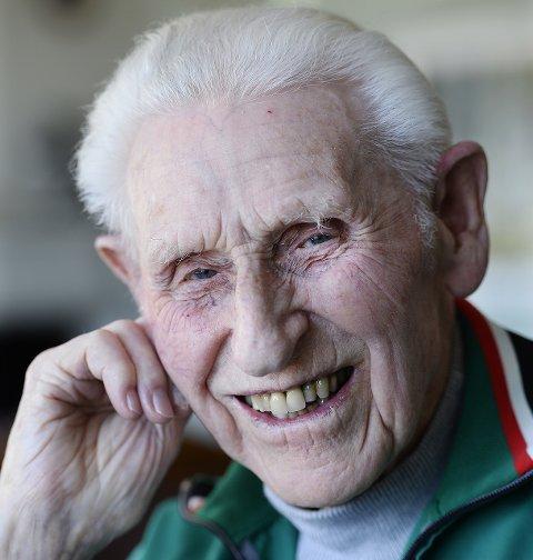 DØDE LØRDAG: Wilhelm Molberg Nilssen ble 103 år. Han sovnet inn i sitt hjem i Lillehammer lørdag kveld med kona og familien rundt seg.