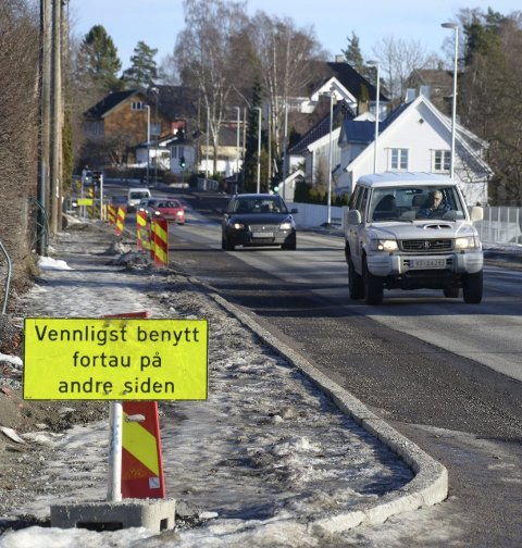 NY SYKKELVEI: Snart gjenopptas arbeidet med å lage sykkelfelt i Nordstrandveien. Foto: Nina S. Olsen