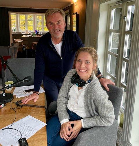 """FØRSTEUT: Det er Dag Erik Pedersen som er første gjest i Karen Marie Bergs nye podcast """"Sorgens kapittel"""". De to snakker sammen om det å miste noen - Berg mistet sin ektemann Hans Kristian Amundsen for 2,5 år siden. Pedersen mistet sin sønn i selvmord for 1,5 år siden."""