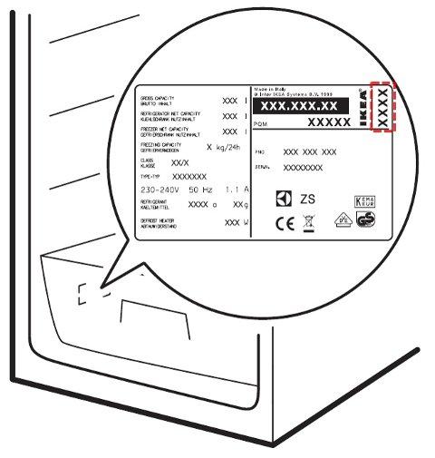 DATOSTEMPLING: For å sjekke om du har en av disse fryserne eller kjøleskapene åpner du den nederste skuffen, hvor du finner en etikett med datostempling øverst i høyre hjørne. Det er kun produktene med datostemplinger fra 1545 til 1607 som er berørt.