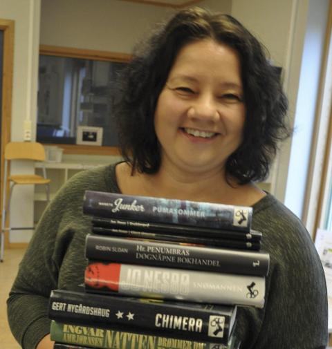 NY I NITTEDAL: Eva Engskar fra Hadeland er ny barne- og ungdomsbibliotekar i Nittedal. Hun kommer til kveldens medlemsmøte i Flammen.