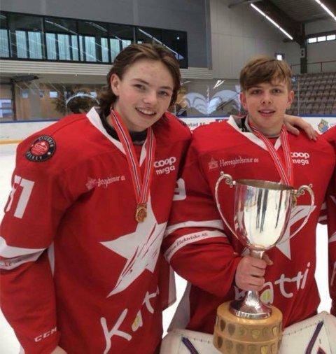 OL-klare: Stjernens Sander Hurrød og Kristian Høvik skal delta i ungdoms-OL i Lillehammer.