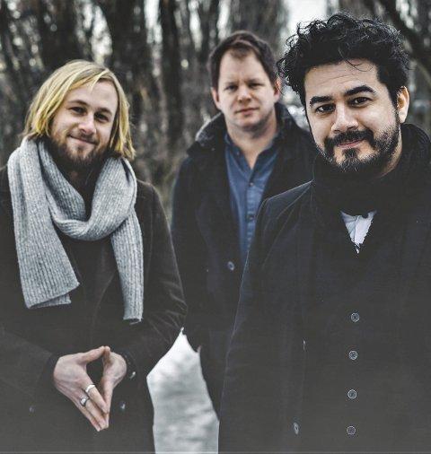 Julekonsert: med Chris Medina (t.h), Eirik Næss og Lars Støvland.