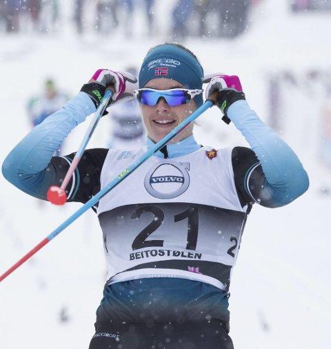 17. plass: Ingeborg Dahl gjorde sin beste sprint noensinne da hun ble nummer 17 lørdag.Foto: Terje Pedersen