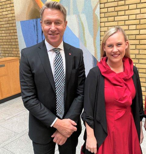 IKKE STATSRÅDER: Terje Aasland og Lenge Vågslid blir ikke statsråder i regjeringen til Jonas Gahr Støre. Aasland er bekreftet blir parlamentarisk nestleder.