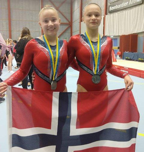TURNVENNINNER: Selma Gudim Karlsen (t.v.) og Marie Rønbeck Nilsen skal forsvare Norges ære i Aserbajdsjan.