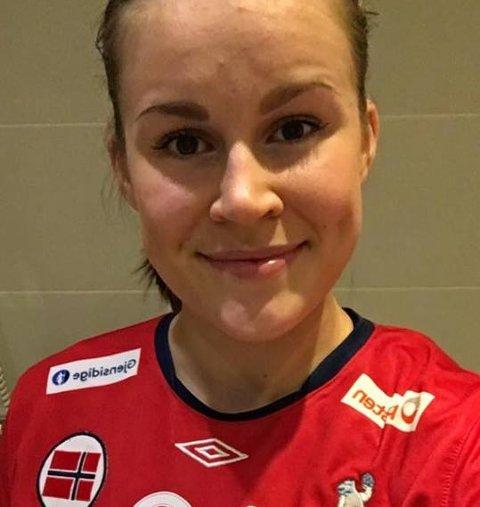 Martine Moen scoret to mål for Norges rekruttlandslag onsdag kveld.