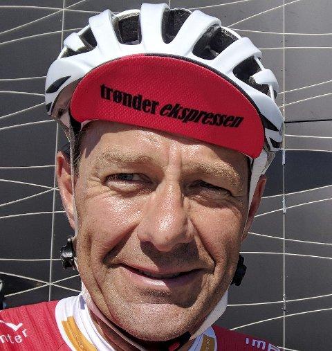 Kom i mål: Roger Nasvik syklet fra Trondheim til Oslo.