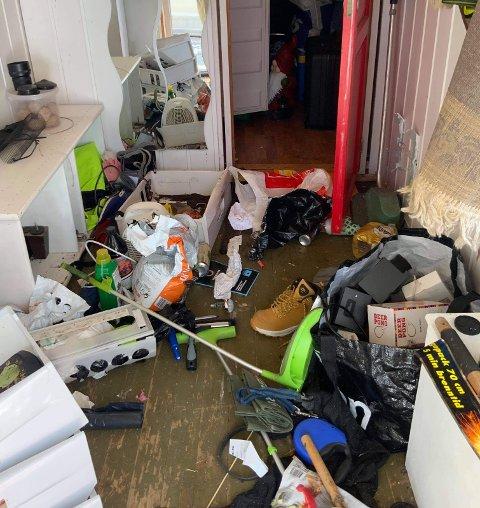 INNBRUDD: Dette møtte Kai Arben Hansen da han låste seg inn i boligen hjemme i Hurdal mandag,