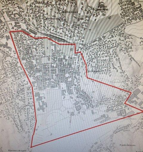 FYRVERKERI: Dette kartet viser hvor det ikke er lov å sende opp fyrverkeri under årets nyttårsfeiring.