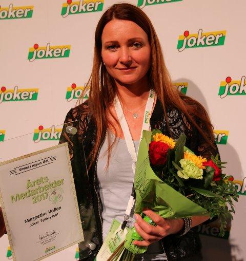 Årets medarbeider: Margrethe Veflen hos Joker Tyinkrysset er kåret til årets Joker-medarbeider i region Øst.