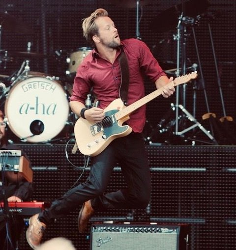 TIL FREDRIKSTAD: Terje Nordgarden live fra konserten med a-ha på Hamar i fjor.