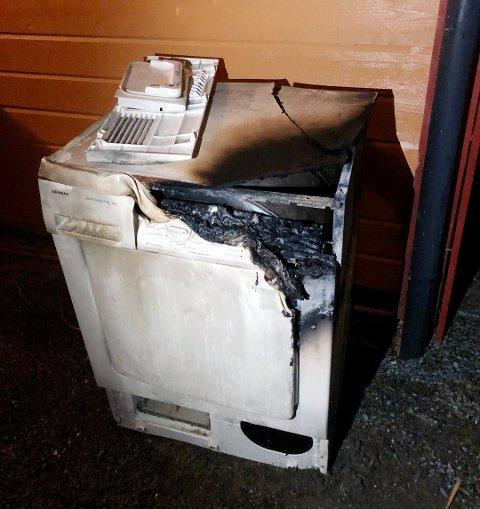 VERSTING: I en pressemelding fra Frende Forsikring blir tørketrommelen utpekt som verstingen blant brannfarlige hvitevarer på vaskerommet. Foto: Frende Forsikring