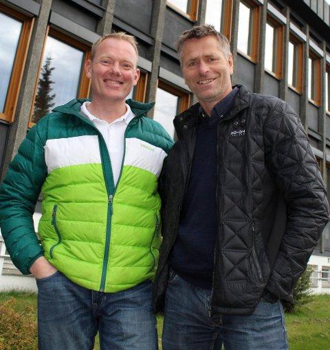 FORTSETTER: Leif Haugland (t.v.) og Anders Østensen fortsetter som henholdsvis varaordfører og ordfører i Gjerdrum