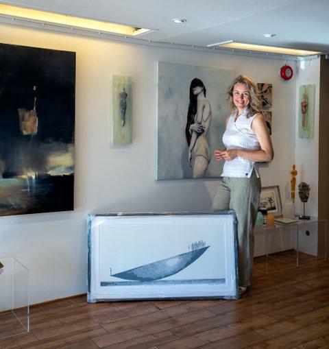 FEM ÅR:: Kaire Kitse tok sjansen på eget galleri i Tønsberg. Nå jubilerer hun med galleriet.