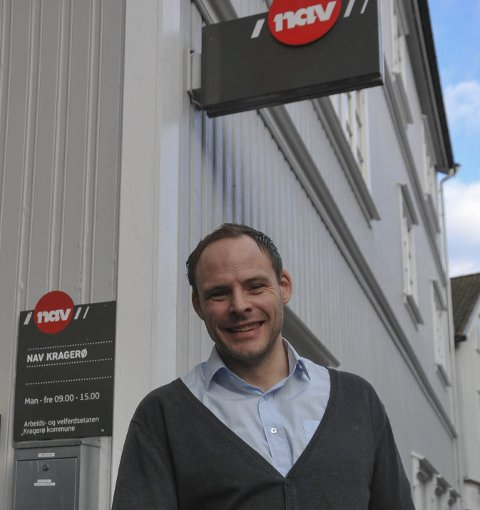 FORNØYD: NAV-sjef i Kragerø, Håvard Dahl Haugan er fornøyd med de ferske tallene.