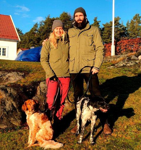 Christian Eilefsen og Vibeke Repstad har flyttet fra Bø i Telemark til Høvringen.