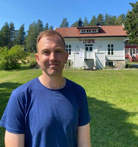 TATT TILBAKE UTØYA: Edvin Søvik besøkte denne uka Utøya. Han mener AUF har lyktes med å ta øya tilbake, både som minnested og leirsted.