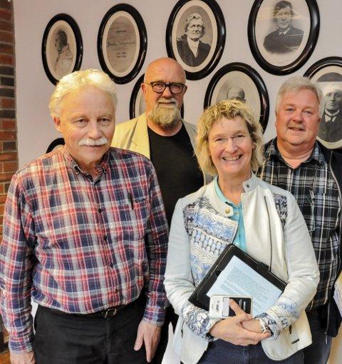 Fondsstyret: Morten Halvorsen (Rødt), Jan P. Underdal (Sp), Hanne Thürmer (KrF) og Torgeir Bakken (Ap) har utarbeidet statutter for fondet.