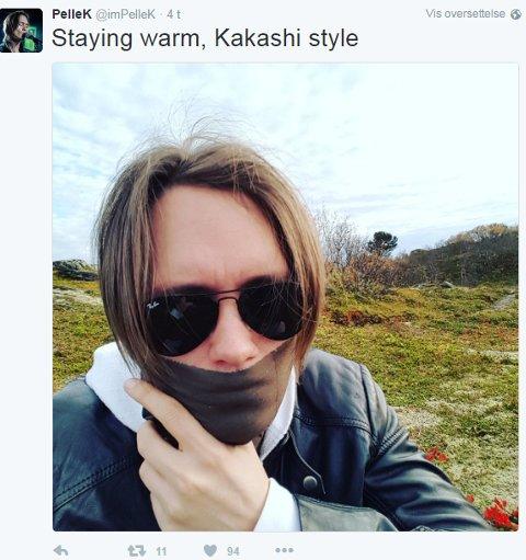 Dette er et av Bodø-bildene PelleK la ut på ut på Instagram og Twitter. Foto: privat