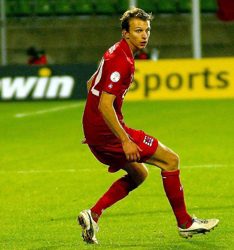 SCORET: Lars Christian Krogh Gerson scoret på straffe for Luxembourgh i EM-kvaliken.