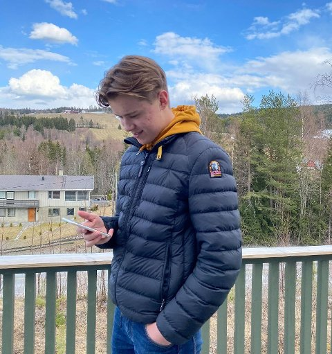 TIKTOK-SUKSESS: Sander Hovde har hatt suksess på Tiktok.