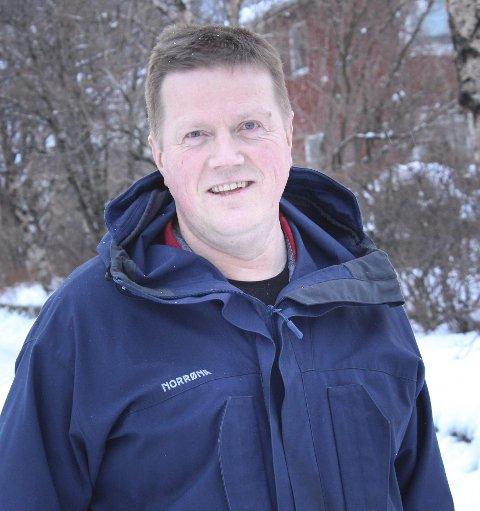 Skuter: Hans Gunnar Otervik i Vefsn kommune. foto: jon Steinar Linga