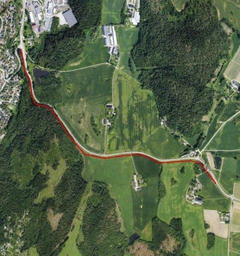 Sammenhengende vei: Fra og med juni 2016 kan du etter planen sykle fra Ås til Drøbak på en sammenhengende sykkelvei. På kartet ser du cirka hvor den nye gang- og sykkelveien vil gå.