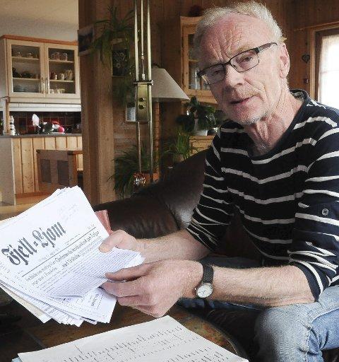 SKOLEMANN I MANGE ÅR: Kåre Bakosgjelten jobbet i skoleverket i 36 - 37 år.  Gang på gang brukes det krefter på kampen om tilbudsstrukturen, konstaterer han.