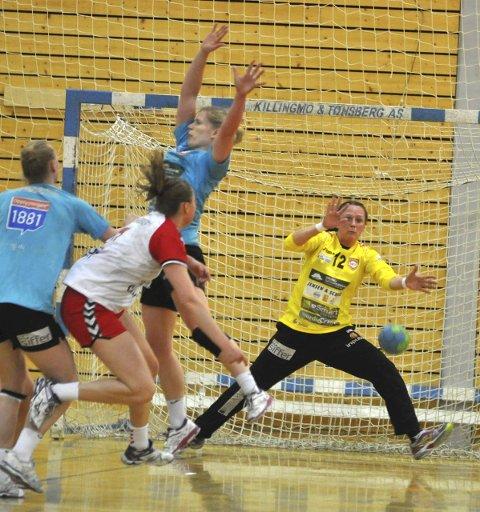 GOD: Hanne Frandsen spilte som vanlig en meget god kamp for HK Halden.