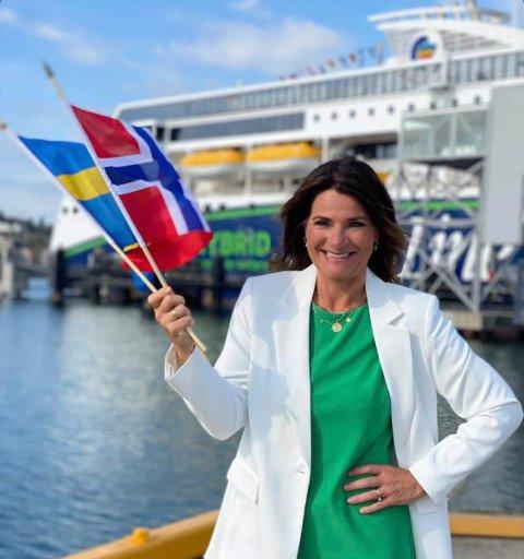 LETTET: Nina Moland Andersen i Color Line er lettet og glad – både på nordmenn og svenskers vegne – over at man fra 11. oktober kan reise til og fra Sverige uten restriksjoner.