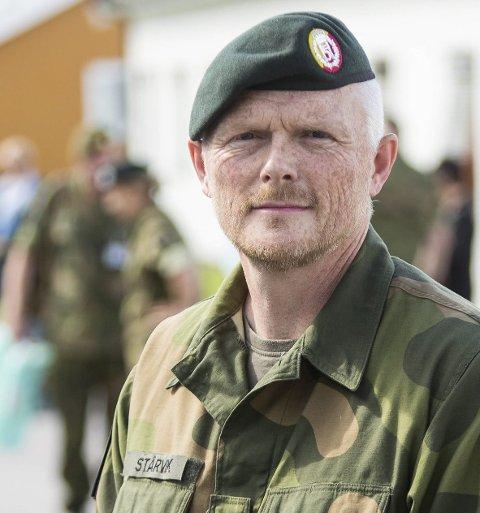 Øver i Vest-oppland: Sjef for HV-05, Tore Ketil Stårvik.  Foto: HV-05