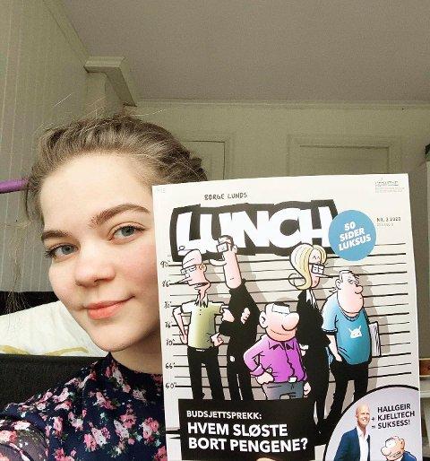 LINN ISABEL EIELSEN: Tegneren og musikeren  Linn Isabel Eielsen leser blant annet tegneserien Lunch i disse korona-tider.