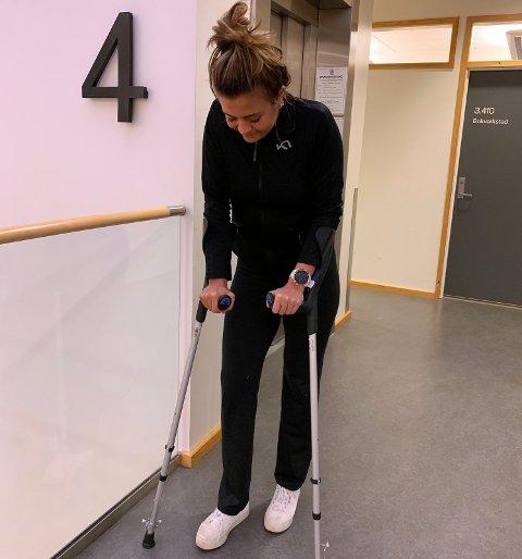 VOND SLUTT: Gabrielle Lemos Lie (21) fikk en trist avslutning på 2019. Tromsøjenta pådro seg en alvorlig kneskade på trening med Stabæk forrige onsdag.
