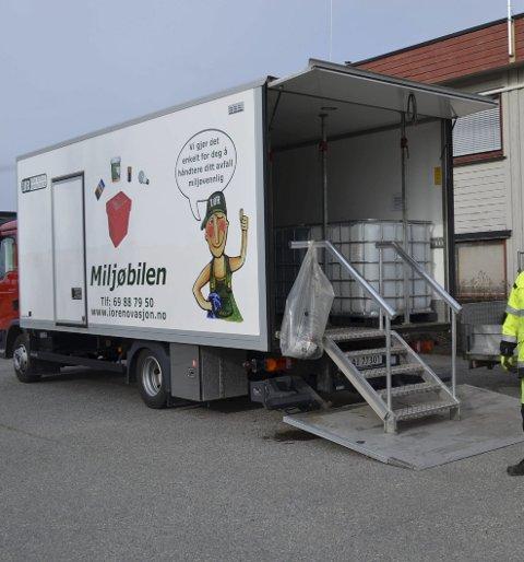 TAR AVFALLET DITT: Miljøbilen er et tilbud fra Indre Østfold Renovasjon.