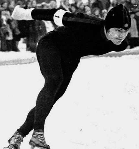 ERIK VEA: Her på isen på 1970-tallet.