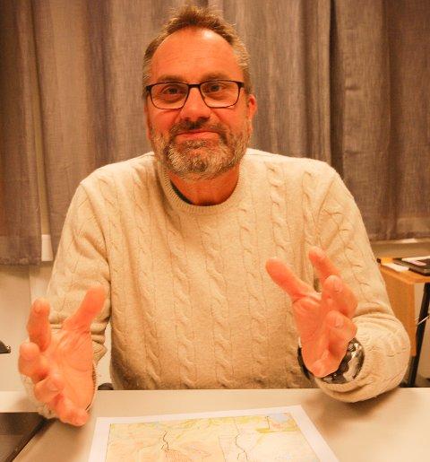 Prosjektleder Harald Dirdal i Grenselandet AS fotografert ved en tidligere anledning.